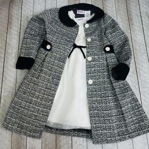 Blueberi Boulevard dress with coat